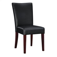 """Black Bonded Leather Parsons Chair, 20-1/2"""" Seat Height"""