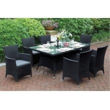 218 / Liz.p17- 7PC OUTDOOR PATIO TABLE SET [P50269(1)+P50131(6)]