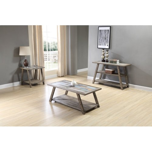 Emerald Home Laurel Lane Sofa Table W/tile Top Gray T306-02