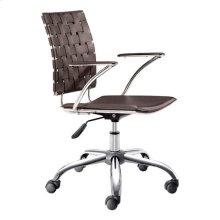 Criss Cross Office Chair Espresso