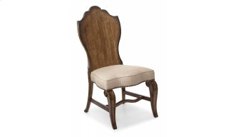 Continental Wood Back Side Chair - Weathered Nutmeg