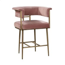 Astrid Blush Velvet Counter Stool
