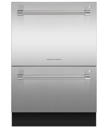 "24"" Double DishDrawer Dishwasher, 14 Place Settings, Sanitize (Tall)"