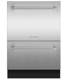 "24"" Double DishDrawer Dishwasher, 14 Place Settings, Sanitize (Tall)"