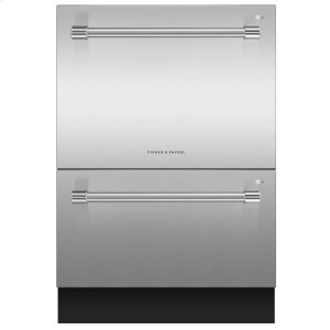 "Fisher & Paykel24"" Double DishDrawer Dishwasher, 14 Place Settings, Sanitize (Tall)"