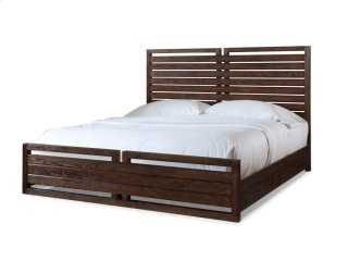 Hampton Panel Bed - Black Tea