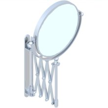 Extending Shaving Mirror 2 Faces/1 Magnified Diameter : 200 Mm