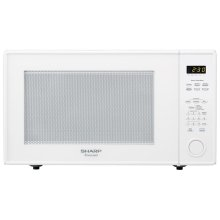 2.2 cu. ft. 1200W Sharp White Countertop Microwave Oven