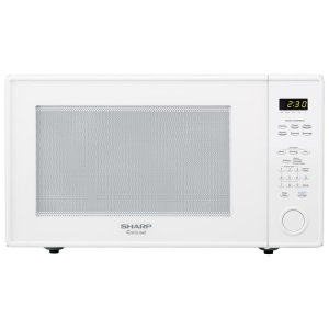 Sharp2.2 cu. ft. 1200W Sharp White Countertop Microwave Oven