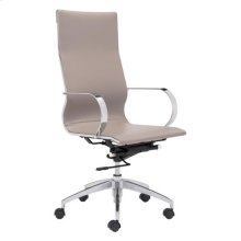 Glider Hi Back Office Chair Taupe
