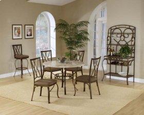 Brookside 5pc Round Set and Diamond Chairs