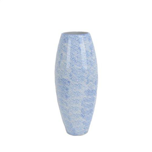 """Light Blue/white Vase 16"""""""