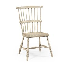 Grey Painted Windsor Chair (Side)