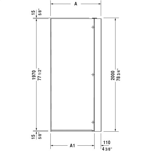 Null Openspace B Shower Screen, Faucet Right