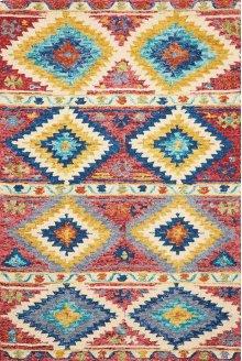 Vibrant Vib02 Multicolor Rectangle Rug 5' X 7'6''