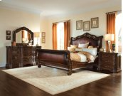 Valencia Eastern King Upholstered Sleigh Bed