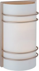 Wall Sconce, Ss W/frost Glass Shade, Type A 60wx2 Product Image