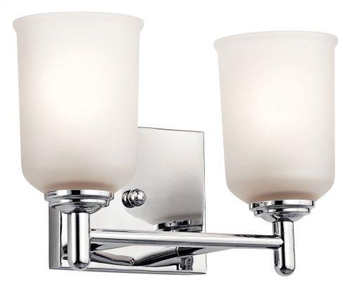 Shailene 2 Light Vanity Light Chrome