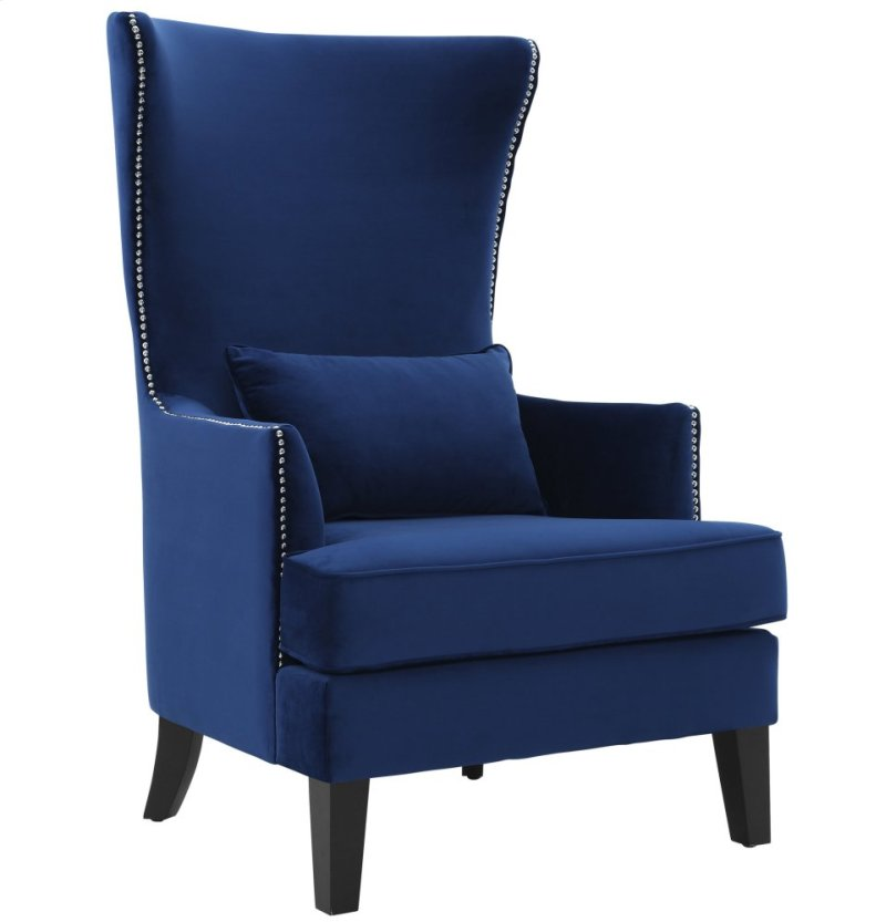 Tova102 In By Tov Furniture In Austin Tx Bristol Blue Tall Chair