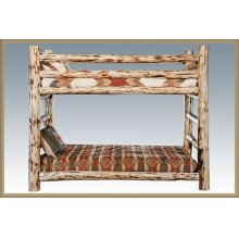 Montana Log Twin Bunkbed
