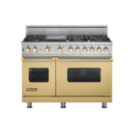 "48"" Custom Sealed Burner Self-Cleaning Range, Natural Gas, Brass Accent"