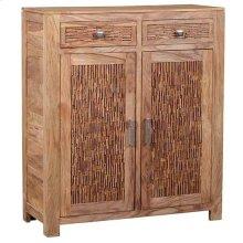 Bengal Manor Mango Wood 2 Drawer, 2 Door Strips of Wood Cabinet