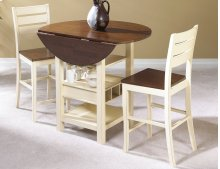Sunset Trading 3 Piece Cascade Drop Leaf Pub Table Set - Sunset Trading