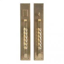 "Stepped Push/Pull Set- 3 1/2"" x 20"" White Bronze Light"