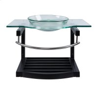 Single 31.5 in. W Black Finish Vanity Product Image