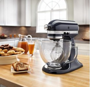 Artisan® Design Series 5 Quart Tilt-Head Stand Mixer with Glass Bowl - Blueberry