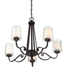 Adonis Chandelier in Dark Cherry