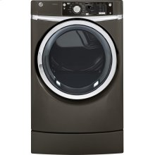 GE® 8.1 cu. ft. capacity RightHeight Design Front Load electric dryer with steam