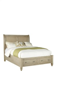 5/0 Queen Storage Bed - Flax Finish