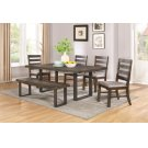 Murphy Rustic Metal and Wood Five-piece Dining Set Product Image