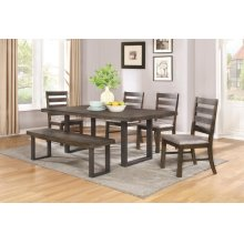 Murphy Rustic Metal and Wood Five-piece Dining Set