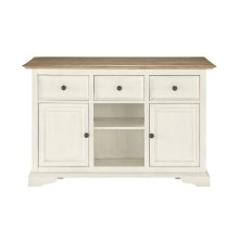 Farmhouse 3 Drawer Kitchen Island (Component 1 of 2)