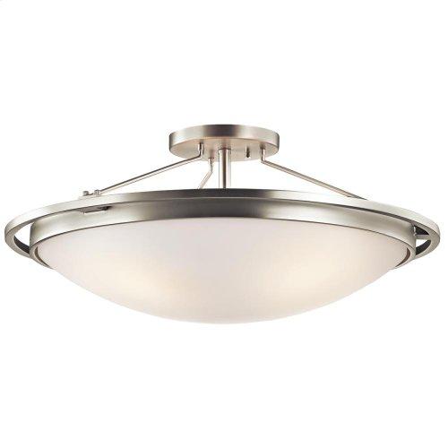 4 Light Semi-Flush Ceiling Light in Brushed Nickel