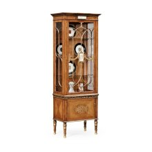 Narrow Satinwood Display Cabinet