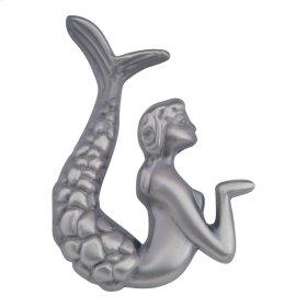Mermaid Knob Left 2 1/2 Inch - Pewter