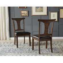 T-BACK SIDE CHAIR W/UPH SEAT