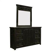 """Mirror : 41"""" x 44.5"""" x 1.75"""" Las Cruces Dresser/Mirror"""