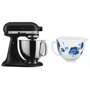 KITCHENAIDExclusive Artisan(R) Series Stand Mixer & Ceramic Bowl Set - Black Matte