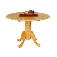 "DLU-TPD4242-LO  42""Round Drop Leaf Dining Table  Light Oak"