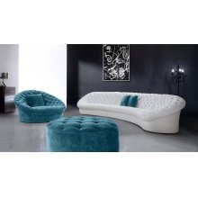 Divani Casa Cosmopolitan - Modern Tufted Fabric Sectional Sofa