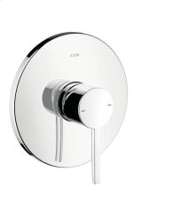 Chrome Single lever shower mixer for concealed installation with flat lever handle