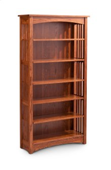 Mission Open Bookcase, Mission Open Bookcase, 6-Adjustable Shelves