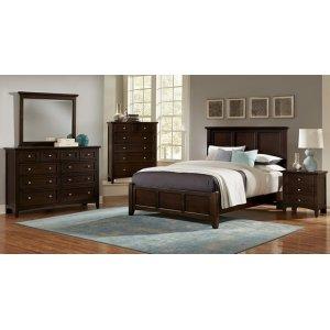 Queen Merlot Mansion Bed