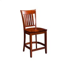 "Kaskaskia Stationary Barstool, 24"" Seat Height"