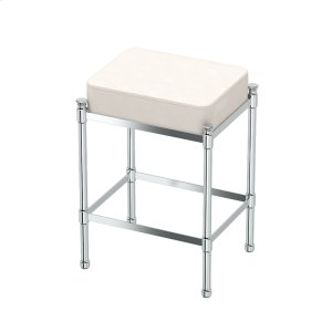 Rectangle Vanity Stool in Chrome Product Image