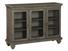 Short Beveled Glass Door Entertainment Center
